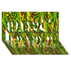 Upside-down forest Happy Birthday 3D Greeting Card (8x4)