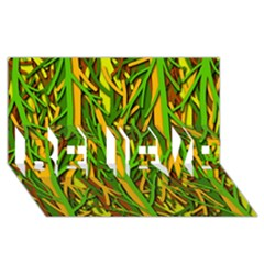 Upside-down forest BELIEVE 3D Greeting Card (8x4)