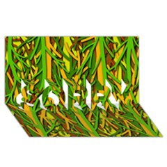 Upside-down forest SORRY 3D Greeting Card (8x4)