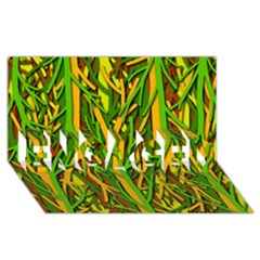 Upside-down forest ENGAGED 3D Greeting Card (8x4)