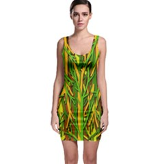 Upside-down forest Sleeveless Bodycon Dress