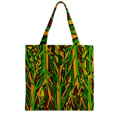 Upside-down forest Grocery Tote Bag