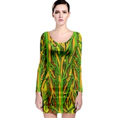 Upside-down forest Long Sleeve Bodycon Dress