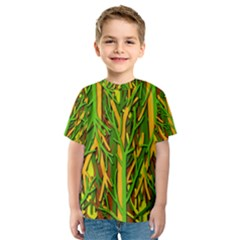 Upside-down forest Kids  Sport Mesh Tee
