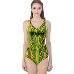 Upside-down forest One Piece Swimsuit
