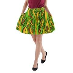 Upside-down forest A-Line Pocket Skirt