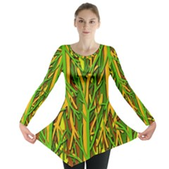 Upside-down forest Long Sleeve Tunic