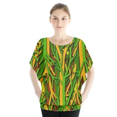 Upside Down Forest Blouse