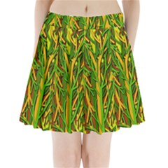 Upside-down forest Pleated Mini Skirt