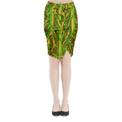 Upside-down forest Midi Wrap Pencil Skirt