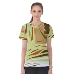 Brown decorative design Women s Cotton Tee