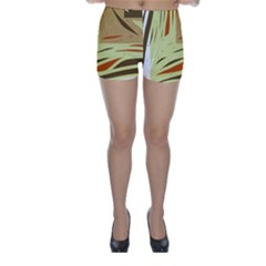Brown decorative design Skinny Shorts