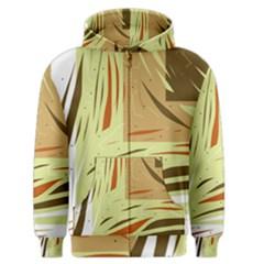Brown decorative design Men s Zipper Hoodie