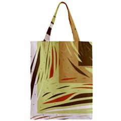 Brown decorative design Zipper Classic Tote Bag