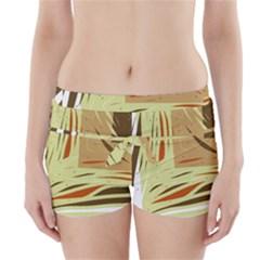 Brown decorative design Boyleg Bikini Wrap Bottoms