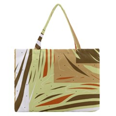 Brown decorative design Medium Zipper Tote Bag