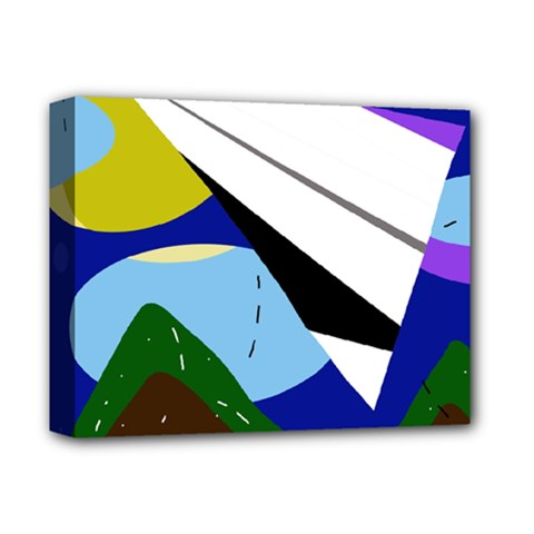 Paper airplane Deluxe Canvas 14  x 11