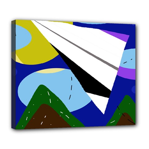 Paper airplane Deluxe Canvas 24  x 20