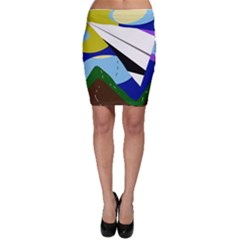 Paper airplane Bodycon Skirt