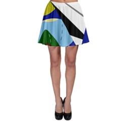 Paper airplane Skater Skirt
