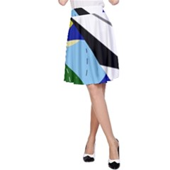 Paper airplane A-Line Skirt