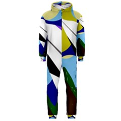 Paper airplane Hooded Jumpsuit (Men)