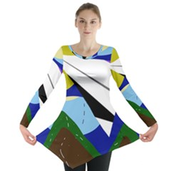 Paper airplane Long Sleeve Tunic