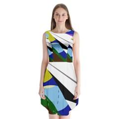 Paper airplane Sleeveless Chiffon Dress