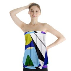 Paper airplane Strapless Top