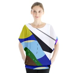 Paper Airplane Blouse