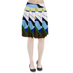Paper airplane Pleated Skirt