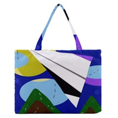 Paper Airplane Medium Zipper Tote Bag