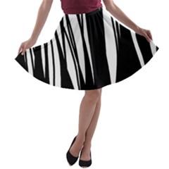 Black forest A-line Skater Skirt