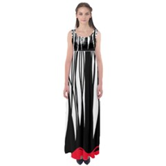 Black forest Empire Waist Maxi Dress