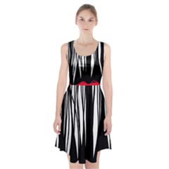Black forest Racerback Midi Dress