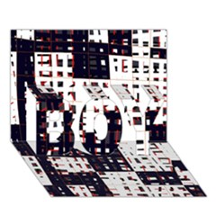Abstract city landscape BOY 3D Greeting Card (7x5)