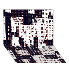 Abstract City Landscape Love 3d Greeting Card (7x5)
