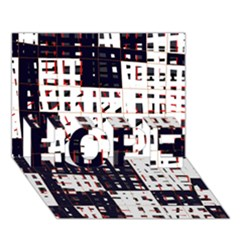Abstract city landscape HOPE 3D Greeting Card (7x5)