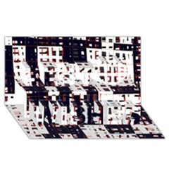 Abstract city landscape Best Wish 3D Greeting Card (8x4)