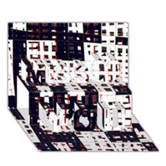 Abstract City Landscape Miss You 3d Greeting Card (7x5)
