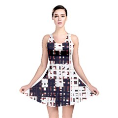 Abstract city landscape Reversible Skater Dress