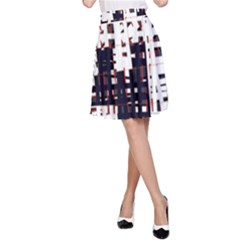 Abstract city landscape A-Line Skirt