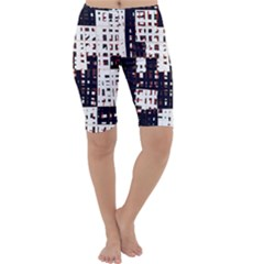 Abstract city landscape Cropped Leggings