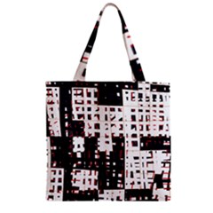 Abstract city landscape Zipper Grocery Tote Bag