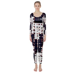 Abstract city landscape Long Sleeve Catsuit