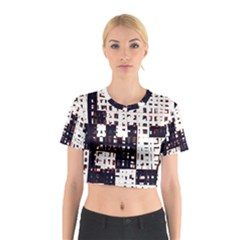 Abstract city landscape Cotton Crop Top