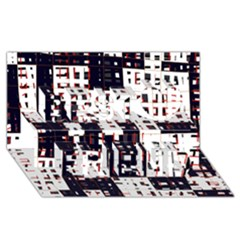 Abstract city landscape Best Friends 3D Greeting Card (8x4)