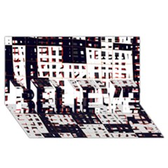 Abstract City Landscape Believe 3d Greeting Card (8x4)