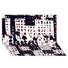 Abstract city landscape ENGAGED 3D Greeting Card (8x4)
