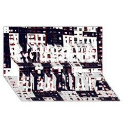 Abstract City Landscape Congrats Graduate 3d Greeting Card (8x4)